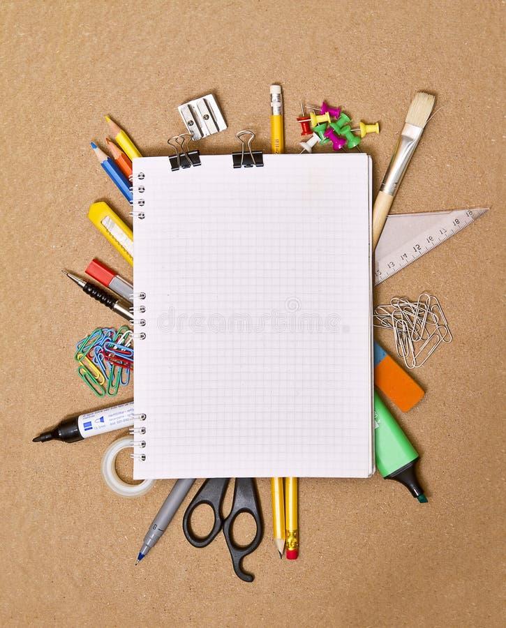anteckningsbokkontorstillförsel arkivbilder