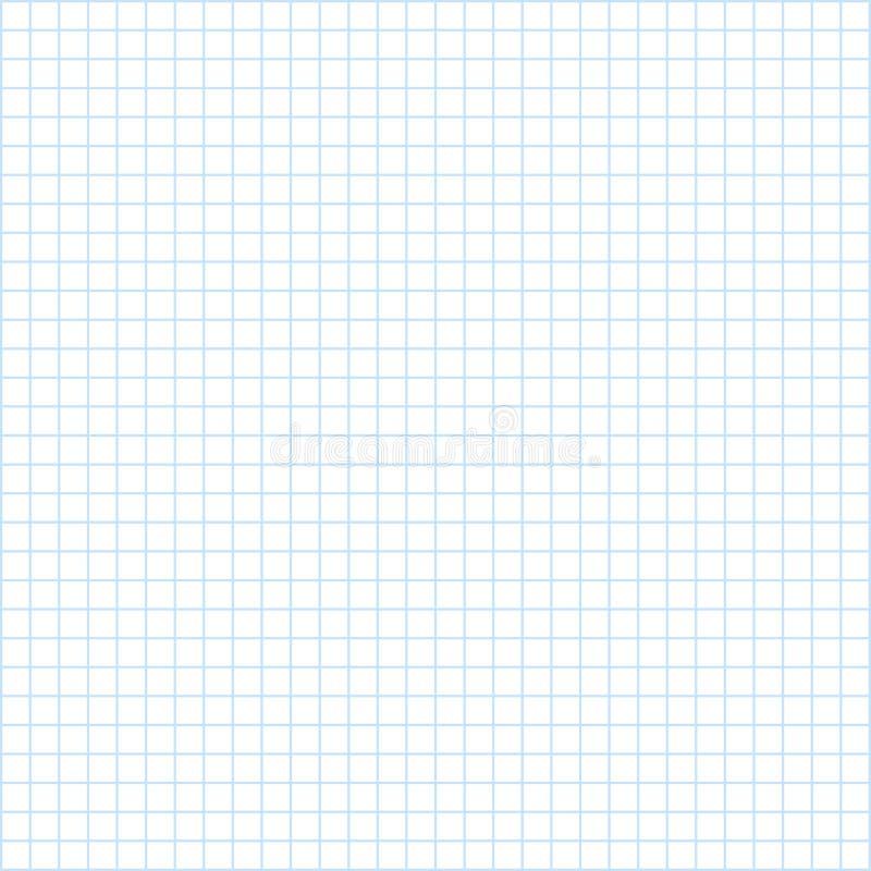 Anteckningsbokpapperstextur, rent kvadrerat tomt ark av förskriftsbok—vektor stock illustrationer