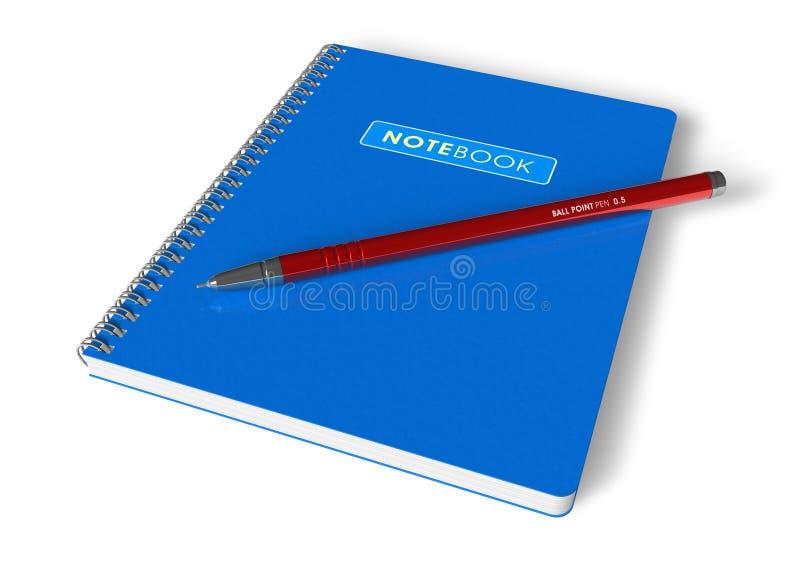 anteckningsbokpenna vektor illustrationer