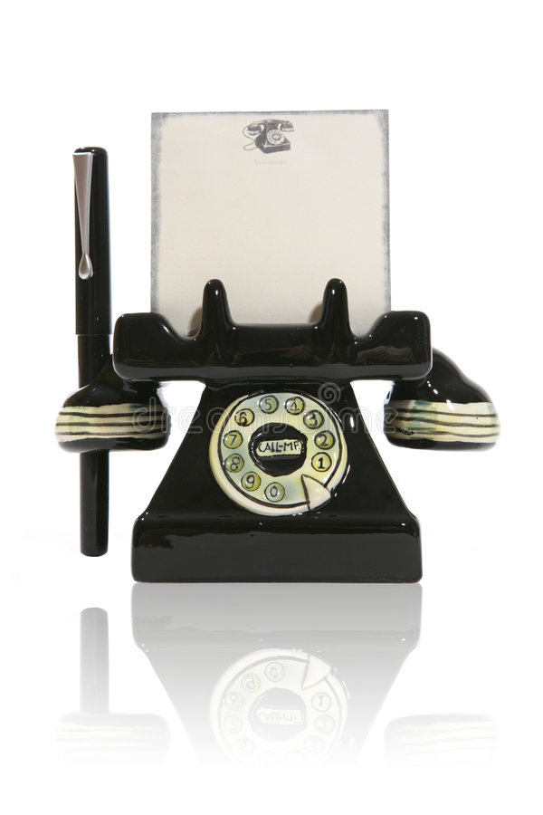 anteckningsbokpenntelefon royaltyfria foton