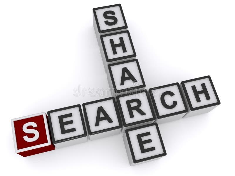 Anteil und Suche lizenzfreie abbildung