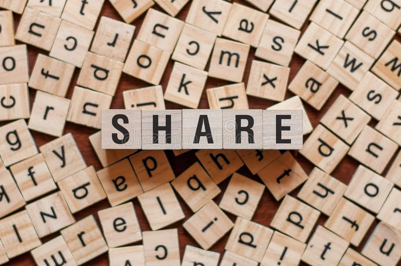 Anteil-Wort-Konzept lizenzfreie stockbilder