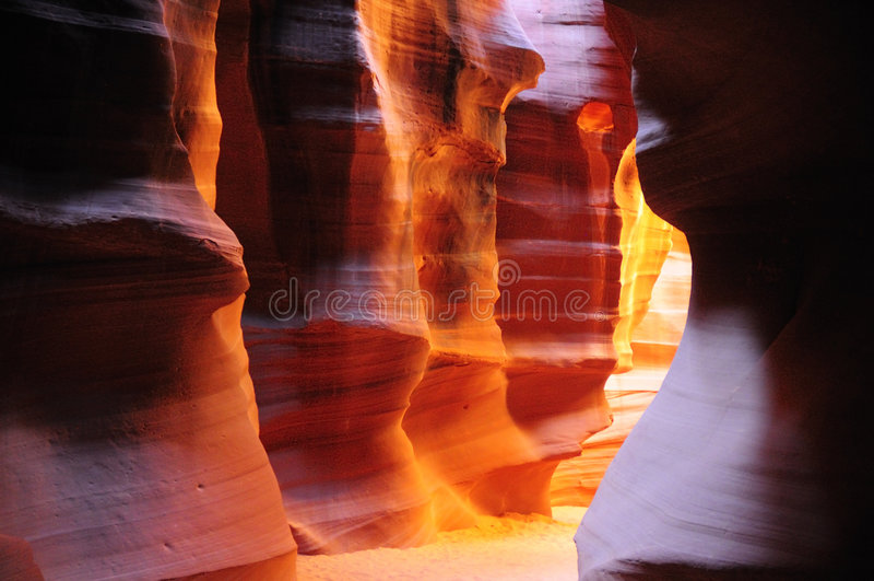 Antelope Canyon, Arizona. Detail of wonderful Antelope Canyon, near Page, Arizona royalty free stock image