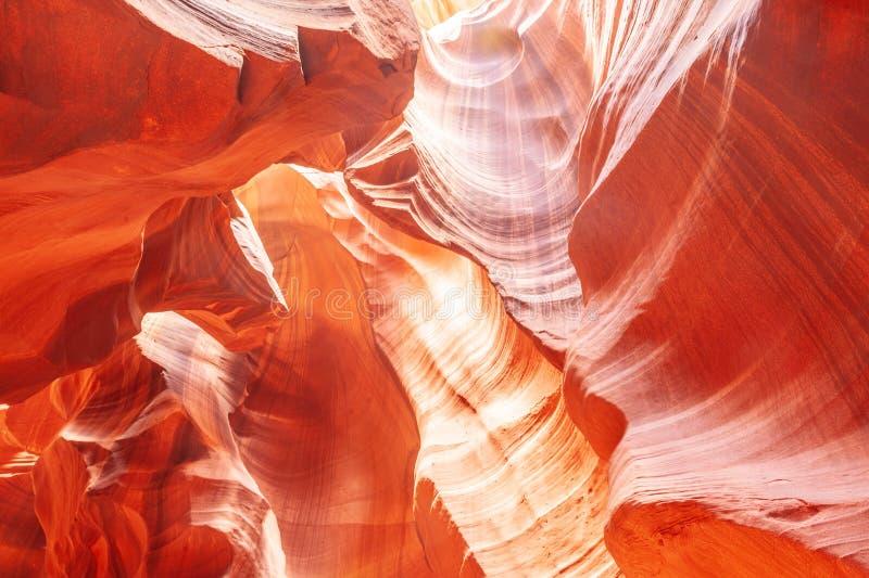 Antelope Canyon in Arizona. The Deep Red Canyon Walls of the Upper Antelope Canyon, near Page, Arizona royalty free stock photos