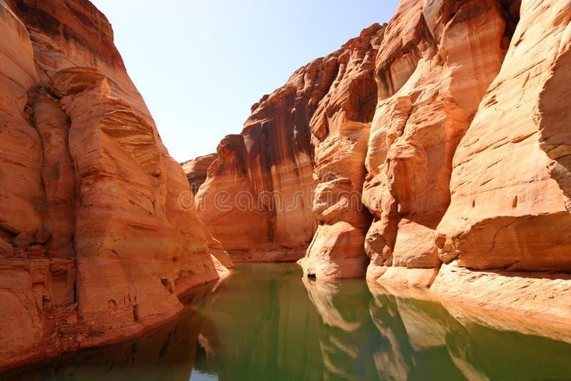 Antelope Canyon, Lake Powell Glen Canyon. Antelope canyon on Lake Powell, Glen Canyon royalty free stock photo