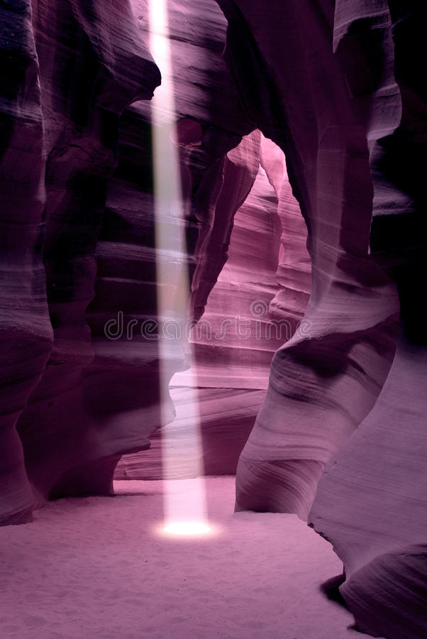 Antelope Canyon. Is the most-visited and most-photographed slot canyon in the American Southwest. It is located on Navajo land near Page, Arizona.  includes two royalty free stock photo