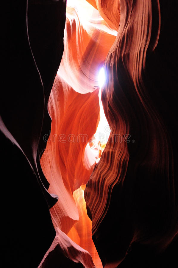 Antelope Canyon, Page, Arizona. Red rocks in Antelope Canyon, Page, Arizona, a Navajo Park royalty free stock image