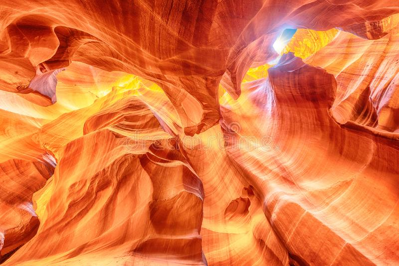 Scenic view at Canyon Antelope near Page, Arizona USA. Antelope Canyon is a slot canyon in the American Southwest. It is on Navajo land east of Page, Arizona stock images