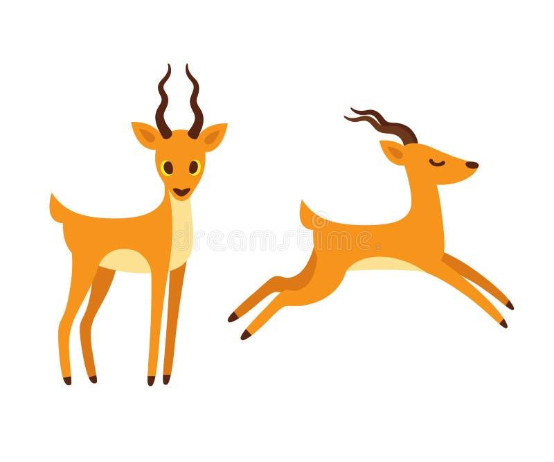 antelope cartoon illustration stock vector illustration of rh dreamstime com cartoon antelope running cartoon antelope head