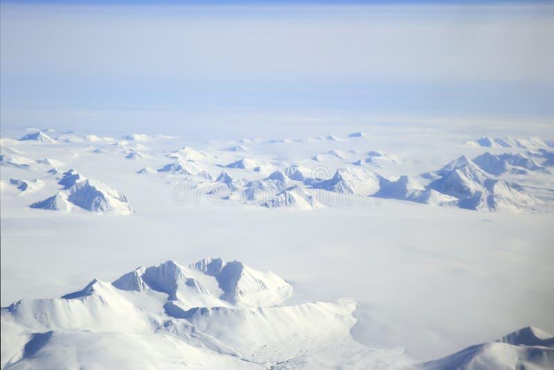 Antena ártica da paisagem de Svalbard fotos de stock