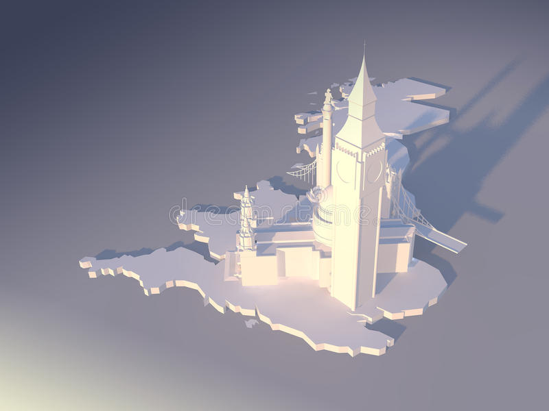 Antena 1 de Londres ilustración del vector