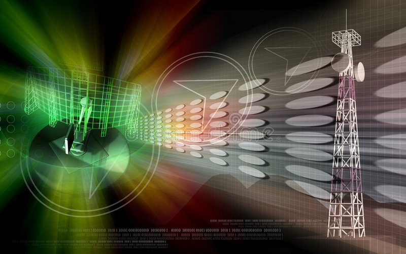 Antena ilustração royalty free