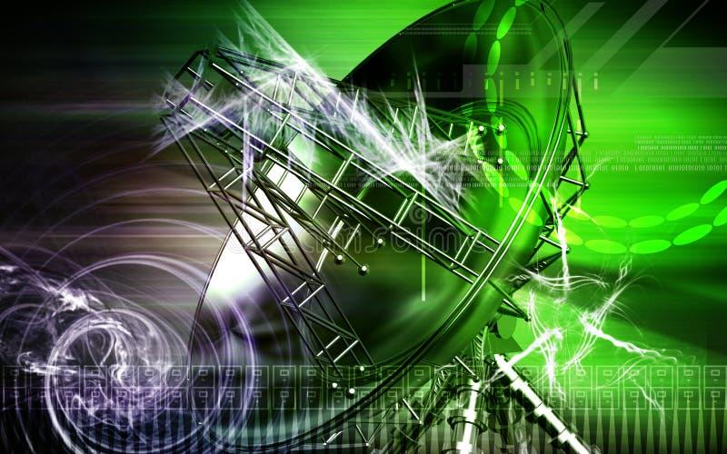 Antena ilustração stock