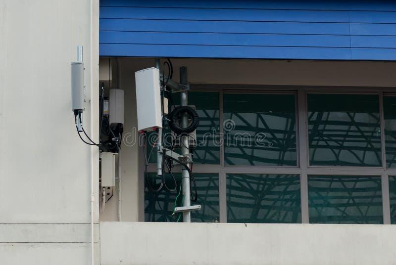 Antena al aire libre de Wifi imagenes de archivo