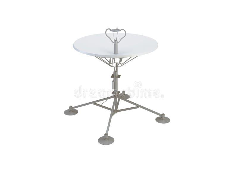 Antena basado en los satélites stock de ilustración