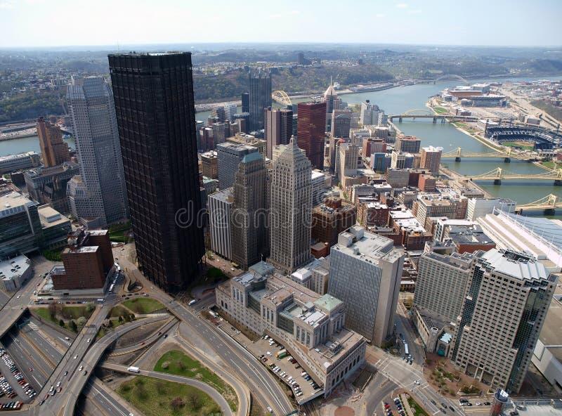 Antena céntrica de Pittsburgh imagenes de archivo