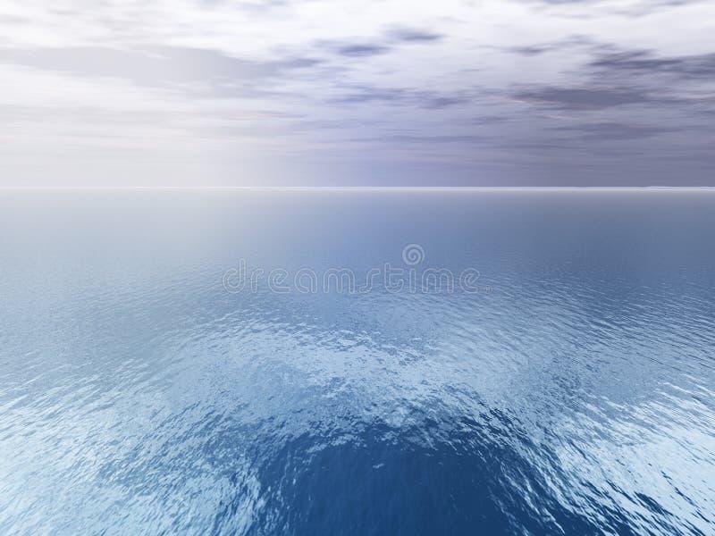 antena chmury nad widokiem na morze ilustracji