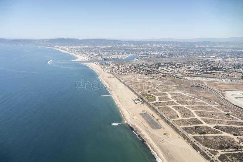 Antena costera de Los Ángeles fotos de archivo