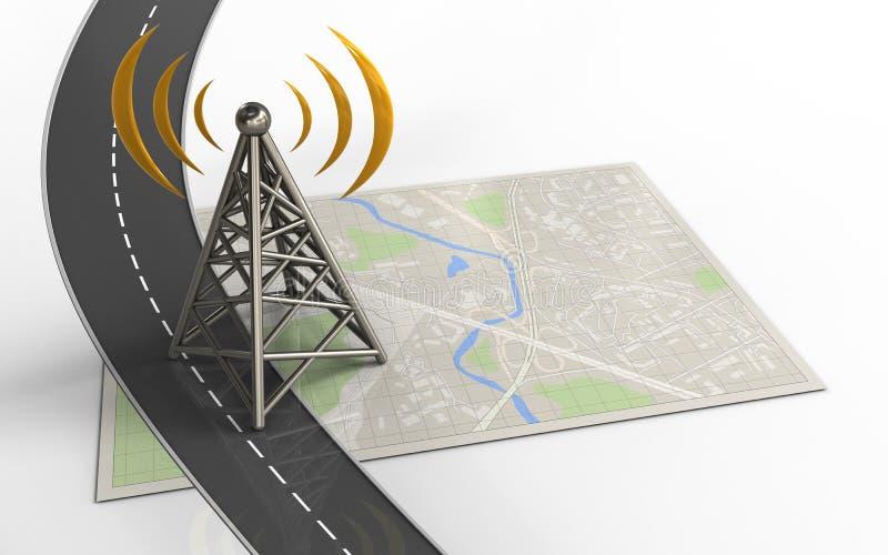 antena 3d ilustração stock