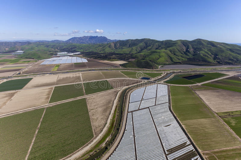 Antena da agricultura de Califórnia imagem de stock