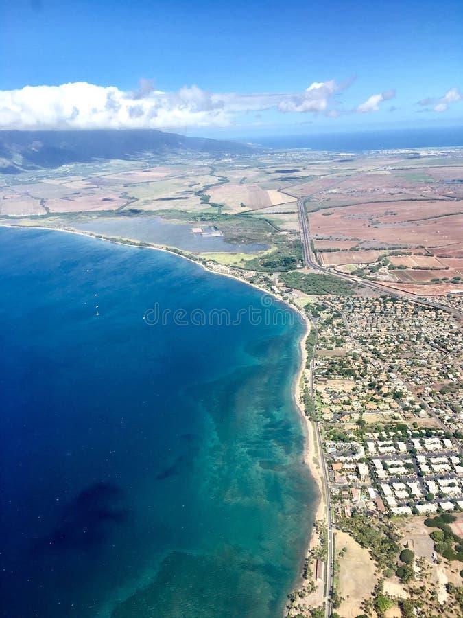 Antena da ilha de Maui imagens de stock