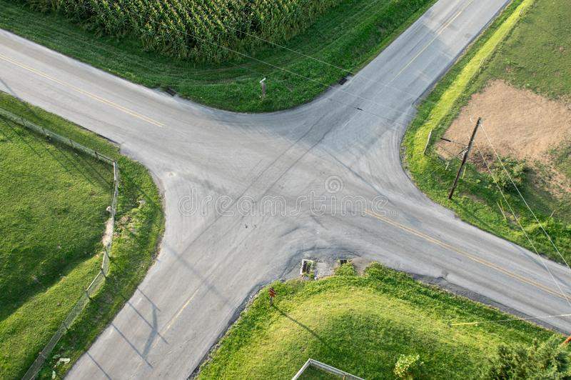 Antena da interseção da estrada imagens de stock royalty free