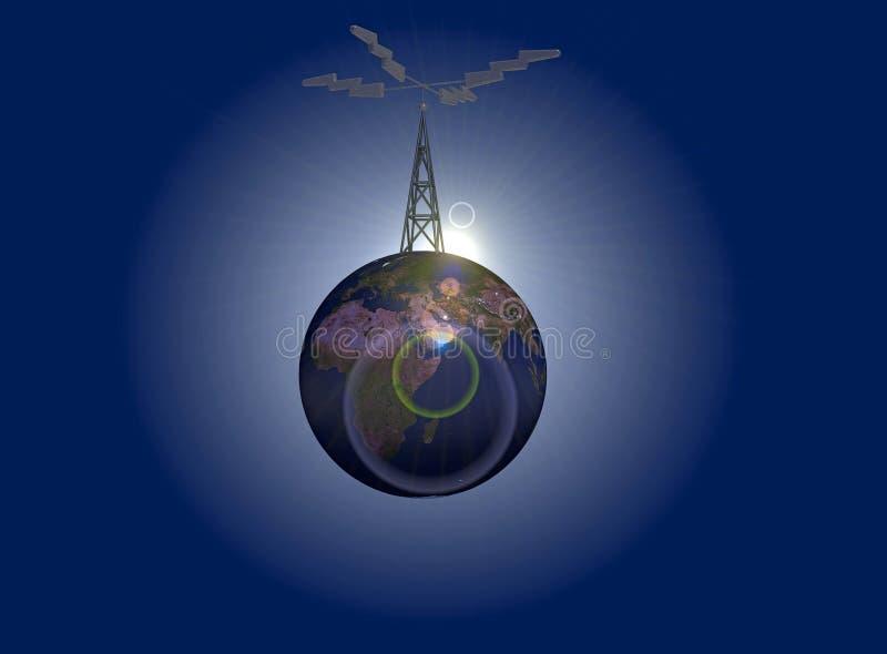 Antena da terra ilustração do vetor