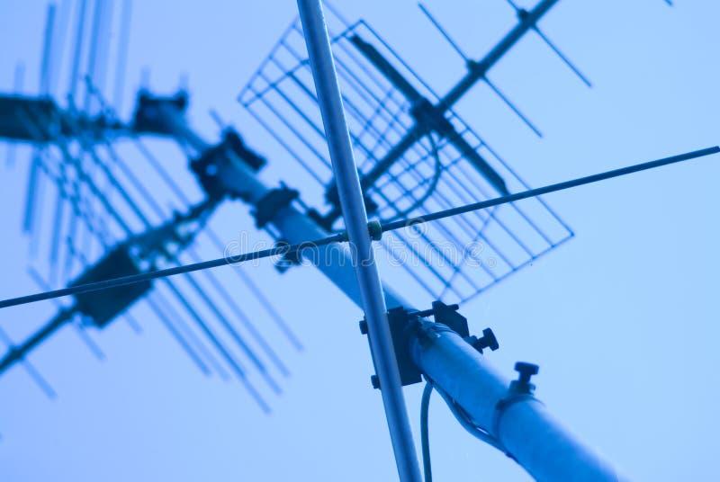 Antena da tevê fotos de stock