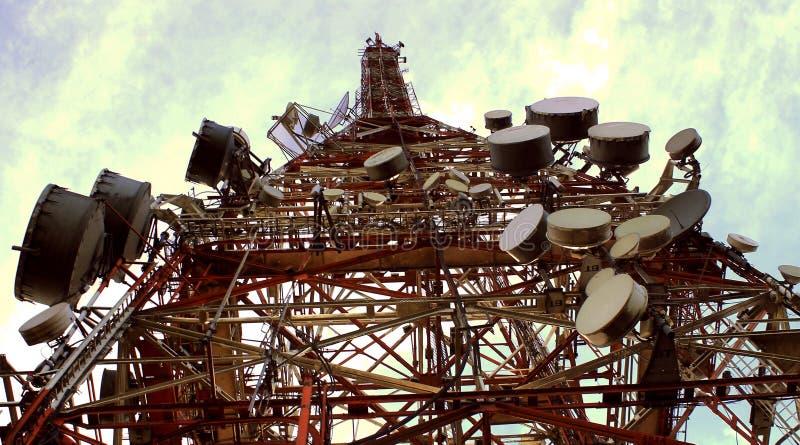 Antena da tevê, Sao Paulo, Brasil fotos de stock royalty free