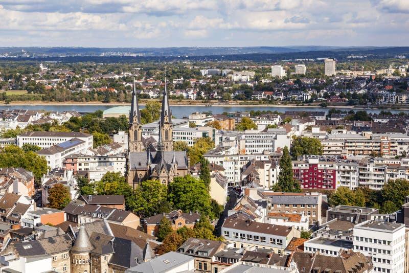 Antena de Bonn, la capital anterior de Alemania imagen de archivo libre de regalías