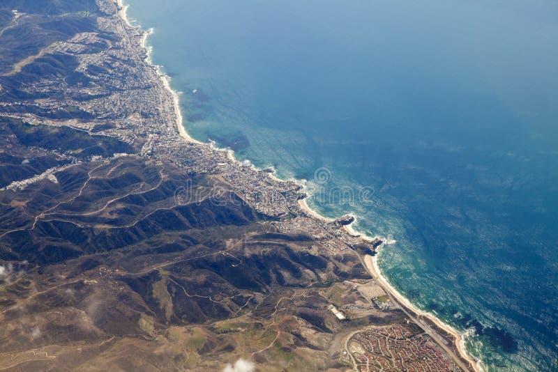 Antena de California del Laguna Beach foto de archivo
