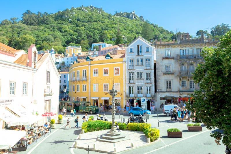 Antena de centro histórica de Sintra imagen de archivo libre de regalías