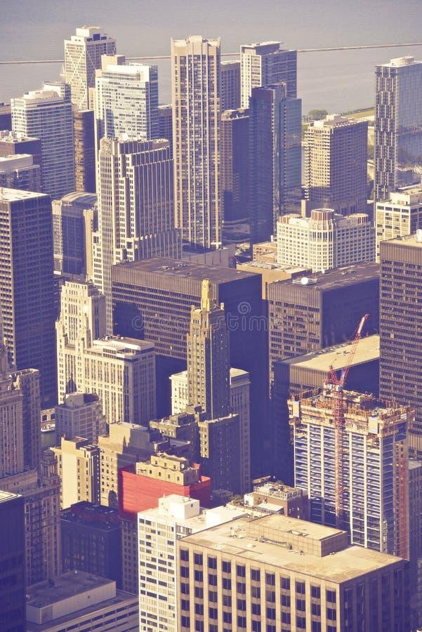 Antena de Chicago Illinois imagen de archivo libre de regalías