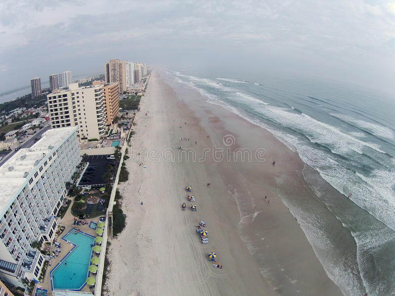 Antena de Daytona Beach Florida imagem de stock royalty free
