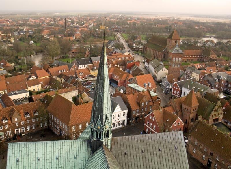 Antena de Dinamarca Ribe foto de archivo libre de regalías