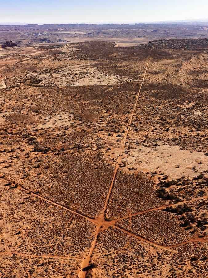 Antena de estradas de terra de cruzamento imagens de stock