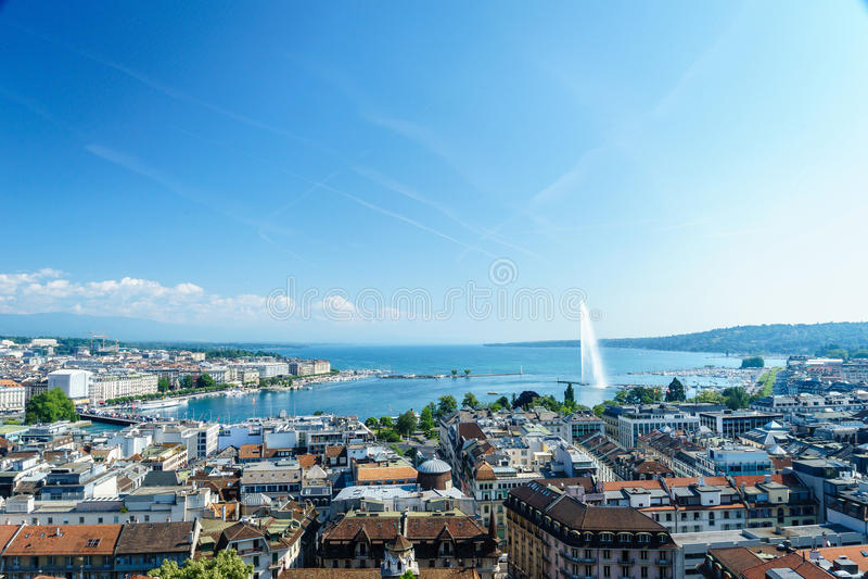 Antena de Genebra, Switzerland imagem de stock