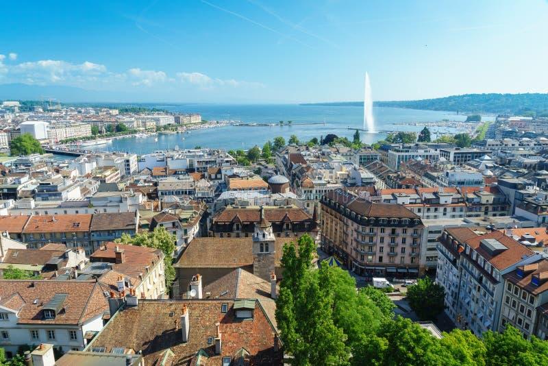 Antena de Genebra, Switzerland fotografia de stock royalty free