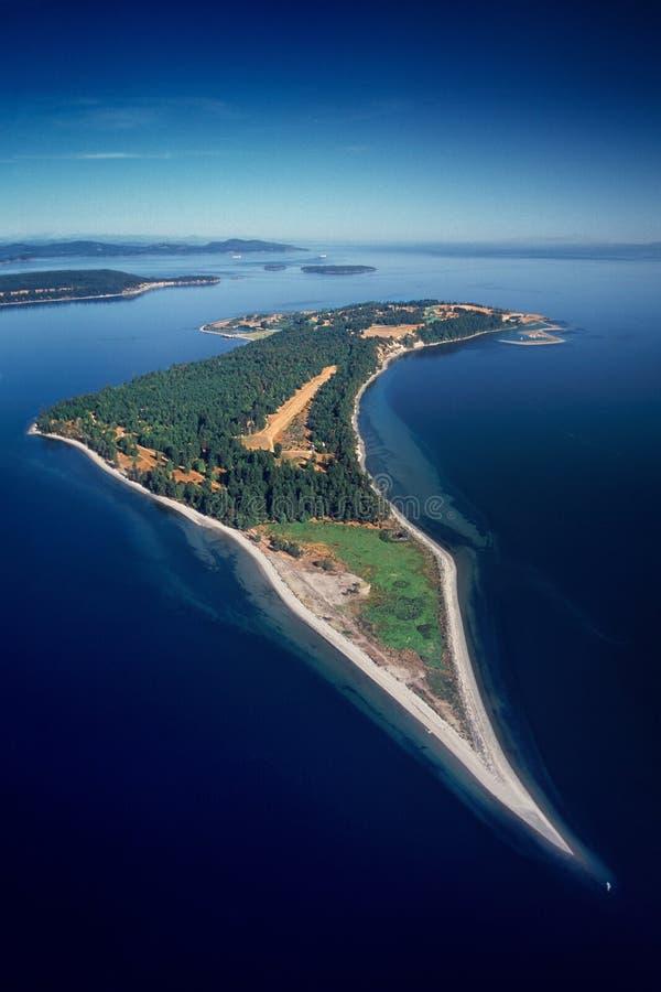 Antena de James Island, mar de Salish, A.C., Canadá fotos de archivo