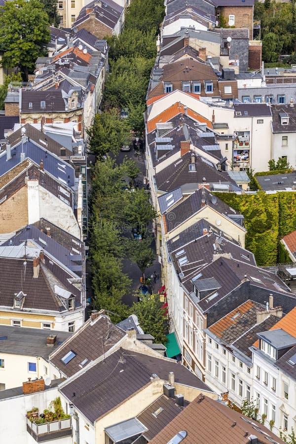 Antena de la calle típica en Bonn, la capital anterior de Alemania imagen de archivo libre de regalías