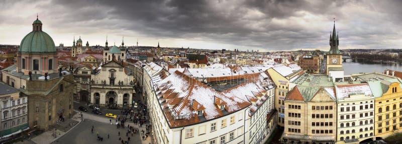 Antena de la ciudad de Praga foto de archivo