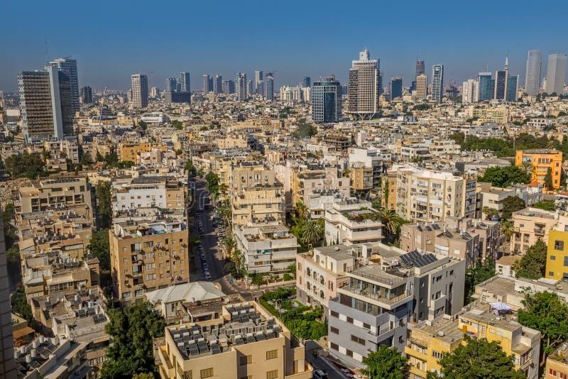Antena de la ciudad de Tel Aviv imágenes de archivo libres de regalías