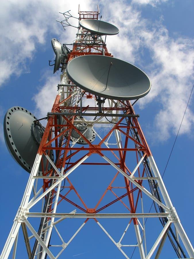 Antena de la comunicación fotografía de archivo