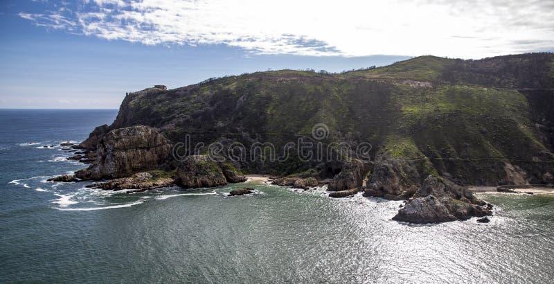Antena de la costa de Knysna Suráfrica fotografía de archivo libre de regalías