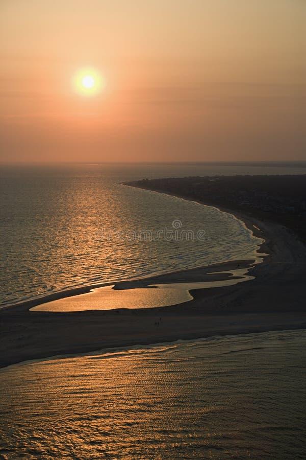 Antena de la playa imagenes de archivo