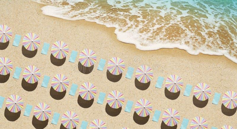 Antena de la playa fotos de archivo libres de regalías