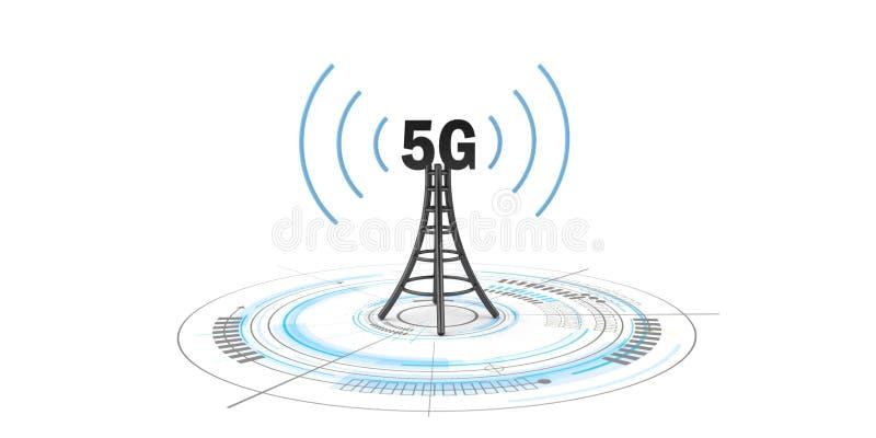 antena de la tecnología 5G fotos de archivo