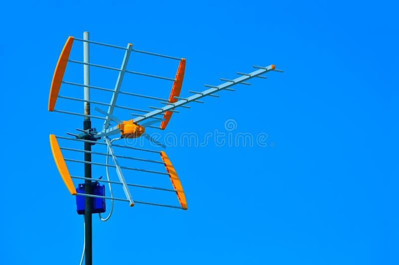 Antena de la TV imagen de archivo libre de regalías