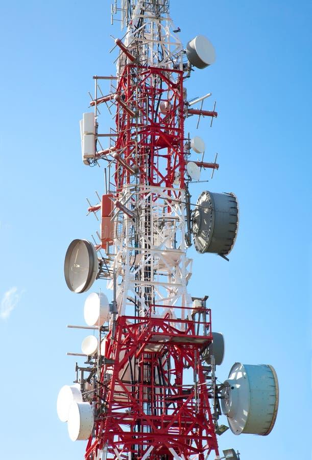 Antena De Las Comunicaciones Imagen de archivo libre de regalías