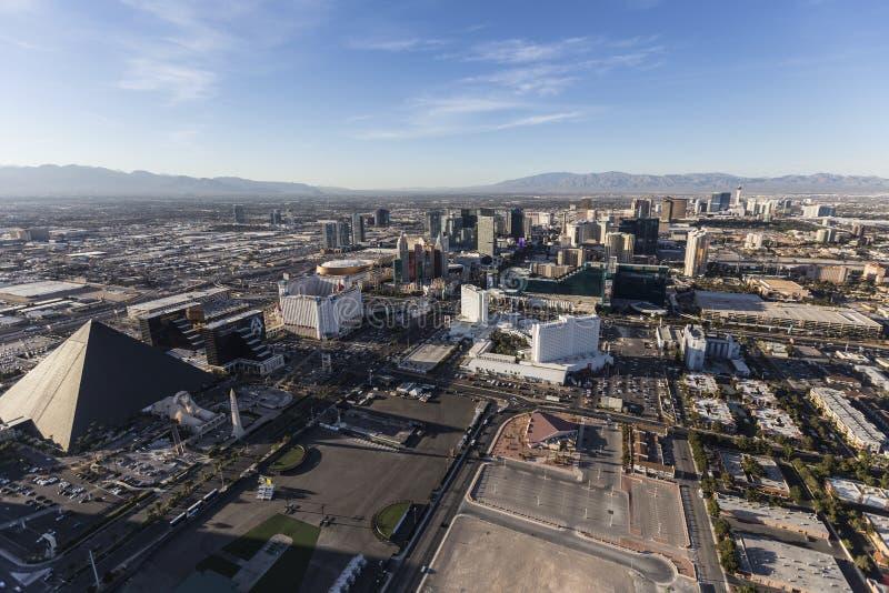 Antena de Las Vegas Blvd fotografia de stock royalty free